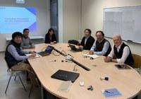 Delegazione giapponese in visita al DE