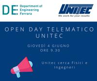 Open Day digitale Unitec: l'azienda leader nelle tecnologie di classificazione e lavorazione di frutta e verdura è alla ricerca di neolaureati e laureandi in Ingegneria e Fisica